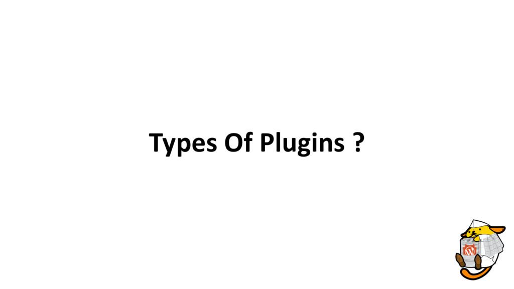 Types Of Plugins ?