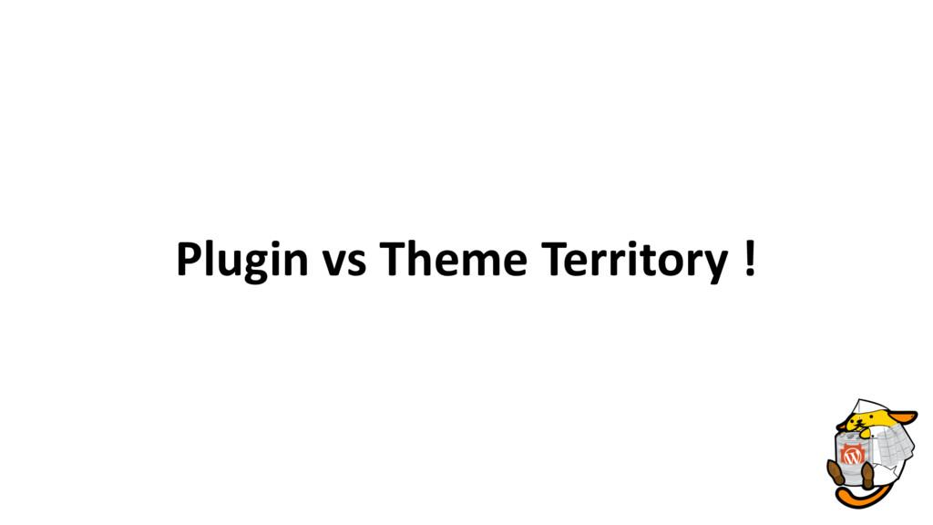 Plugin vs Theme Territory !