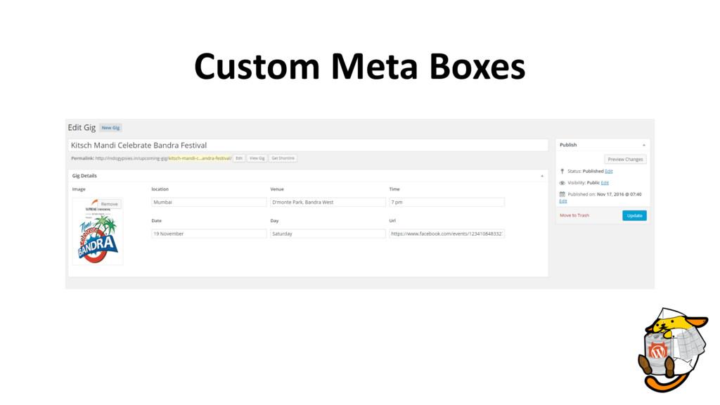 Custom Meta Boxes