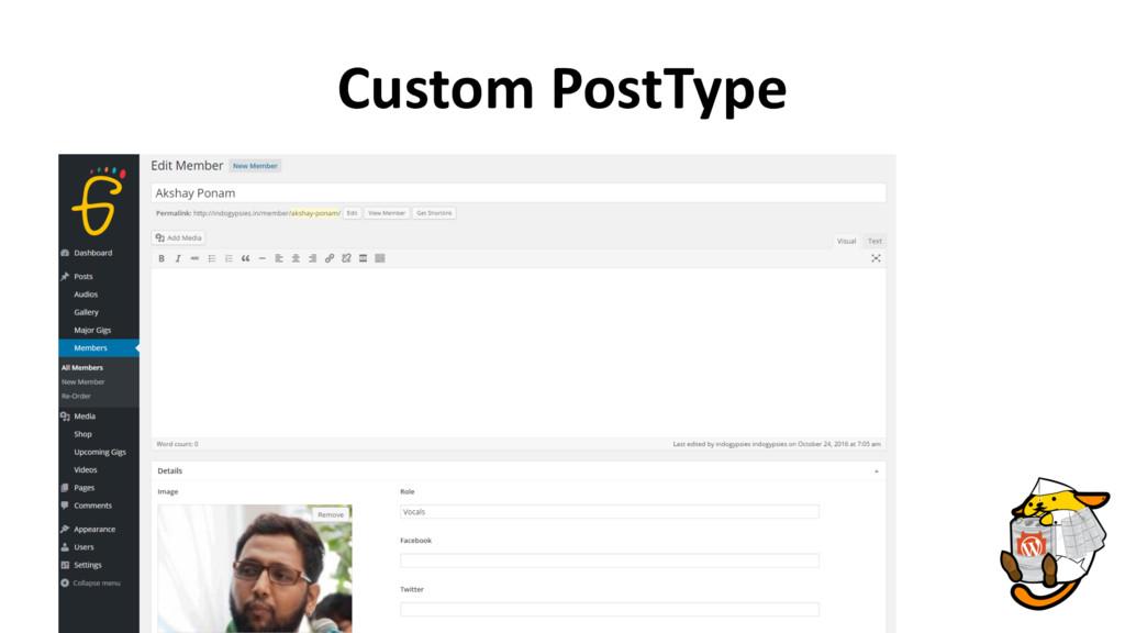 Custom PostType