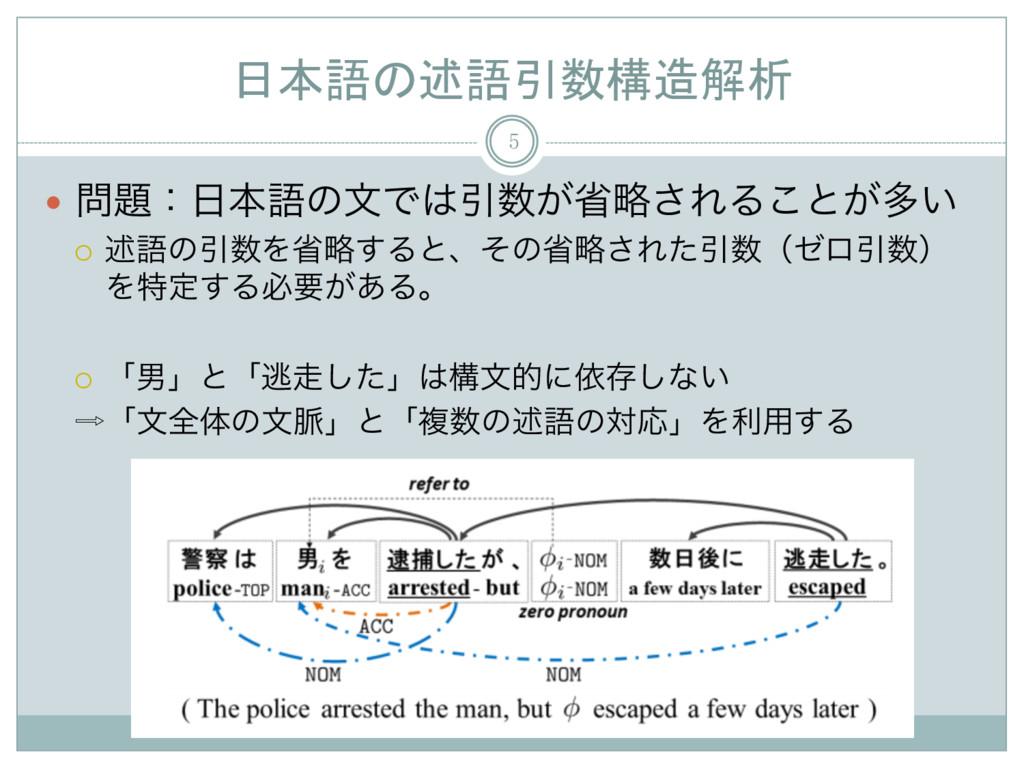 日本語の述語引数構造解析 5 — ɿຊޠͷจͰҾ͕লུ͞ΕΔ͜ͱ͕ଟ͍ ¡ ड़...