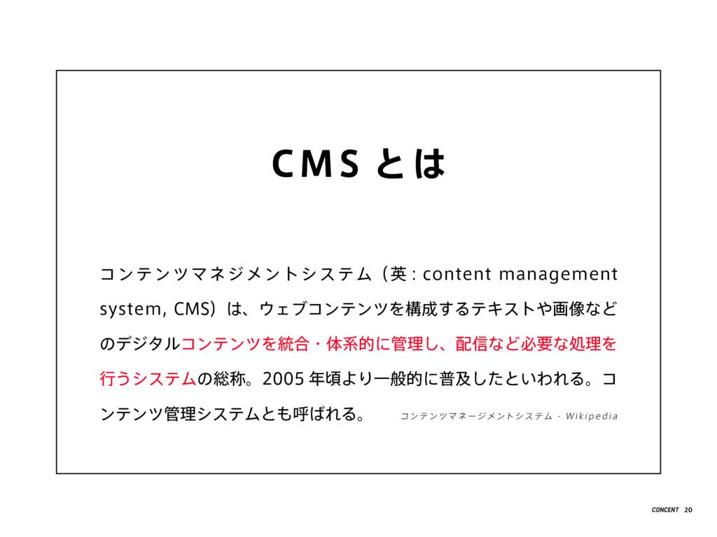 CMS とは コンテンツマネジメントシステム(英 : content management s...