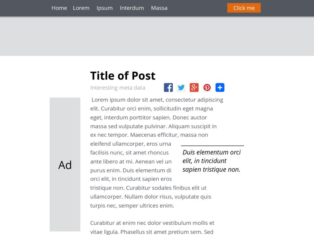Title of Post Interesting meta data Lorem ipsum...