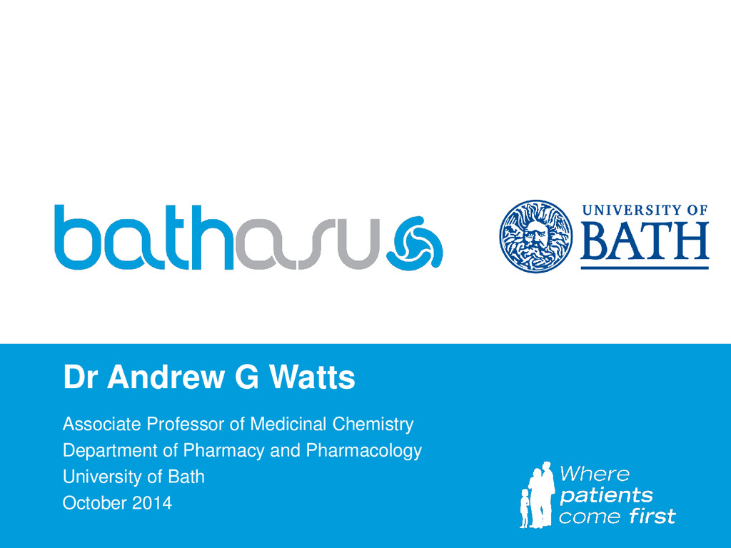 Dr Andrew G Watts Associate Professor of Medici...