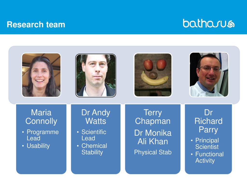 Research team Dr Richard Parry • Principal Scie...