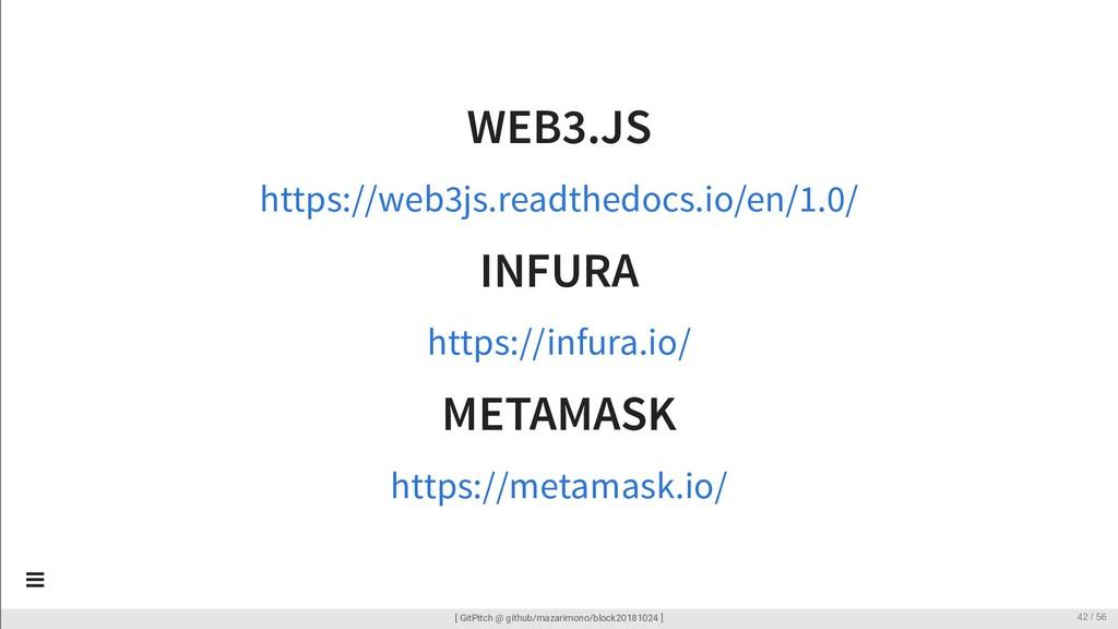 WEB3.JS INFURA METAMASK https://web3js.readthed...