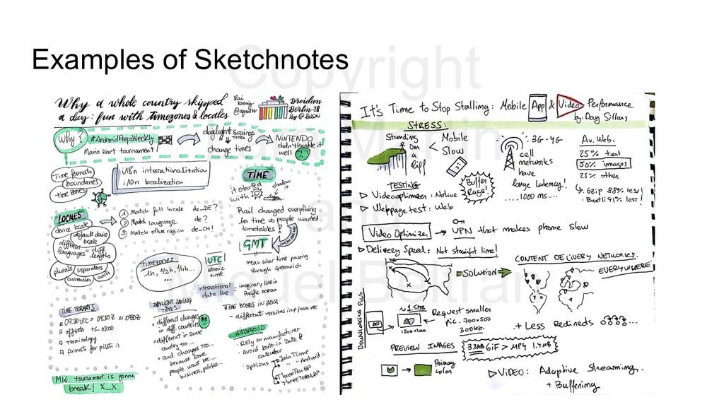 Examples of Sketchnotes