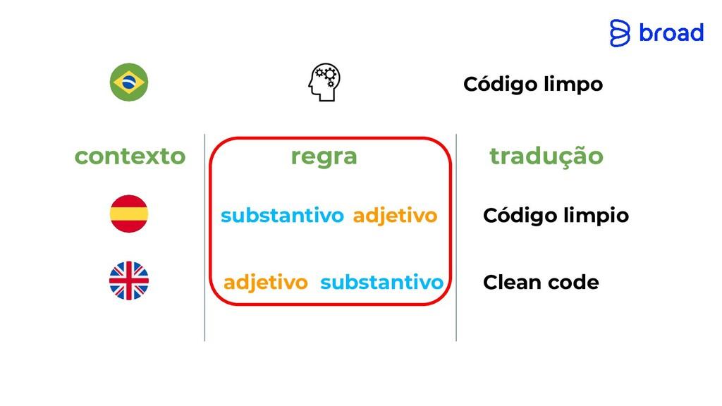 contexto tradução regra substantivo adjetivo su...