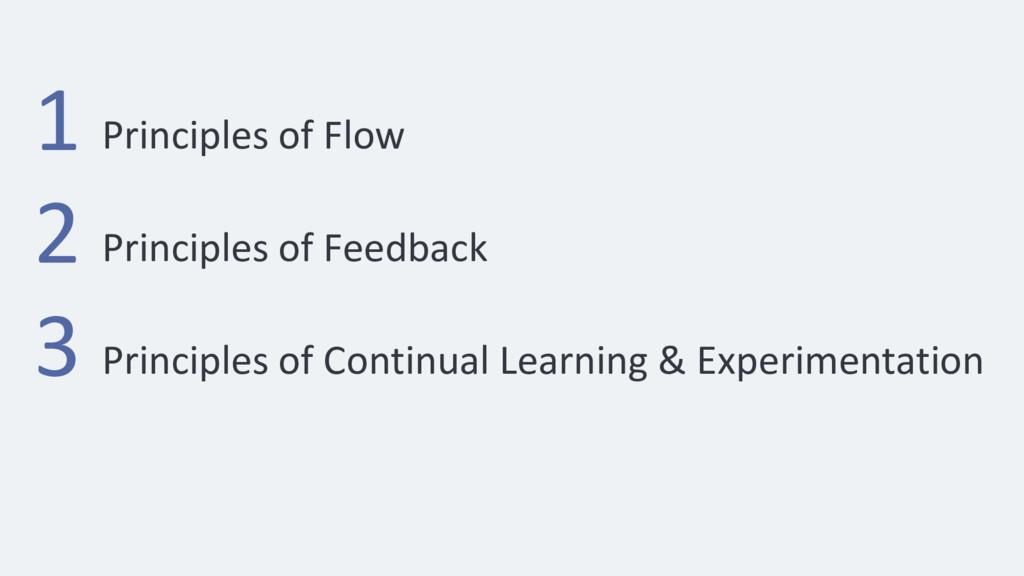 Principles of Feedback 1 2 3 Principles of Flow...