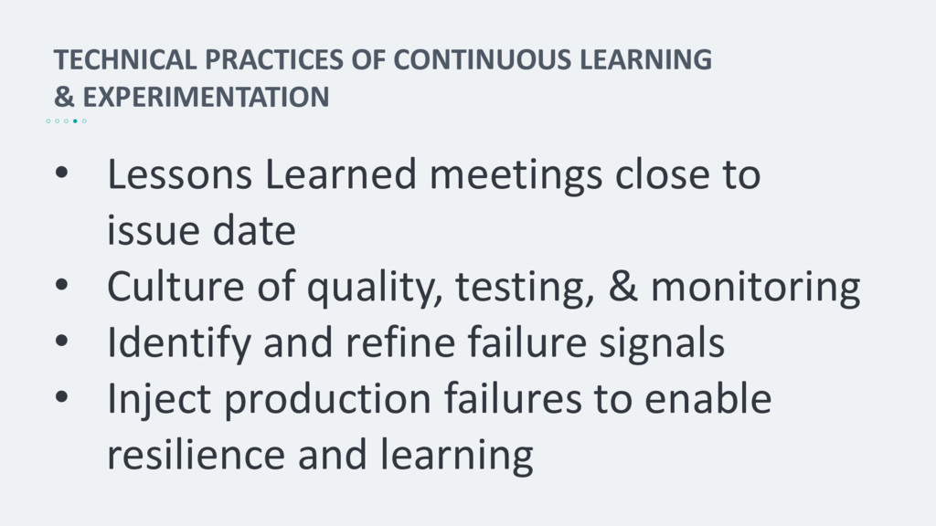 TECHNICAL PRACTICES OF CONTINUOUS LEARNING & EX...