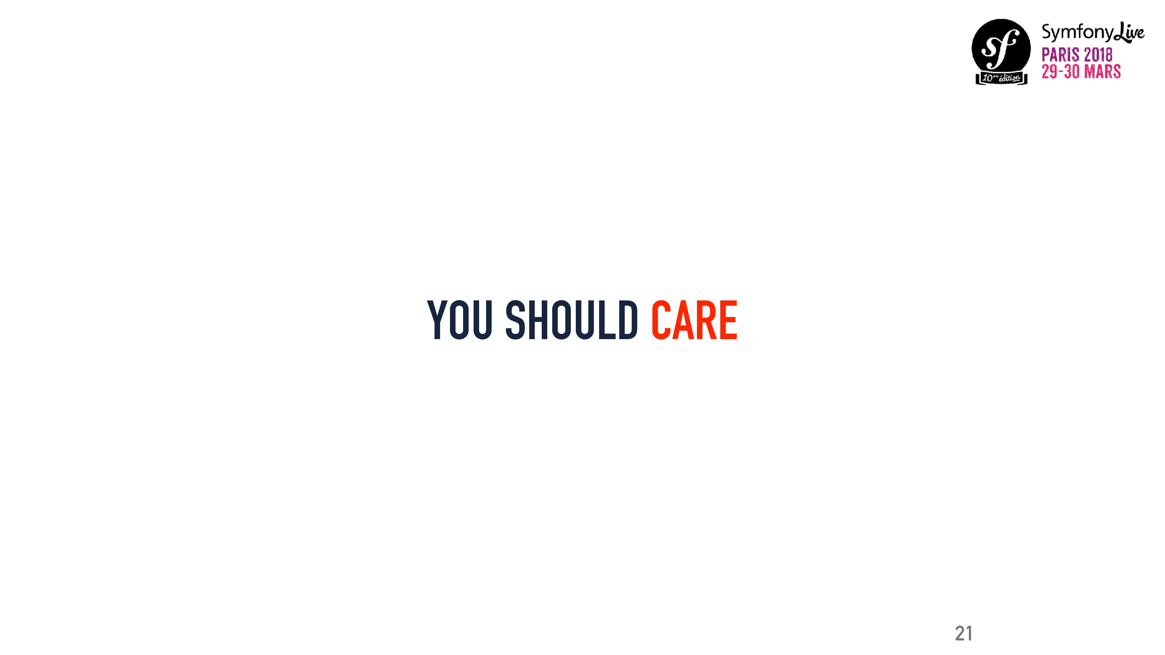 YOU SHOULD CARE 21