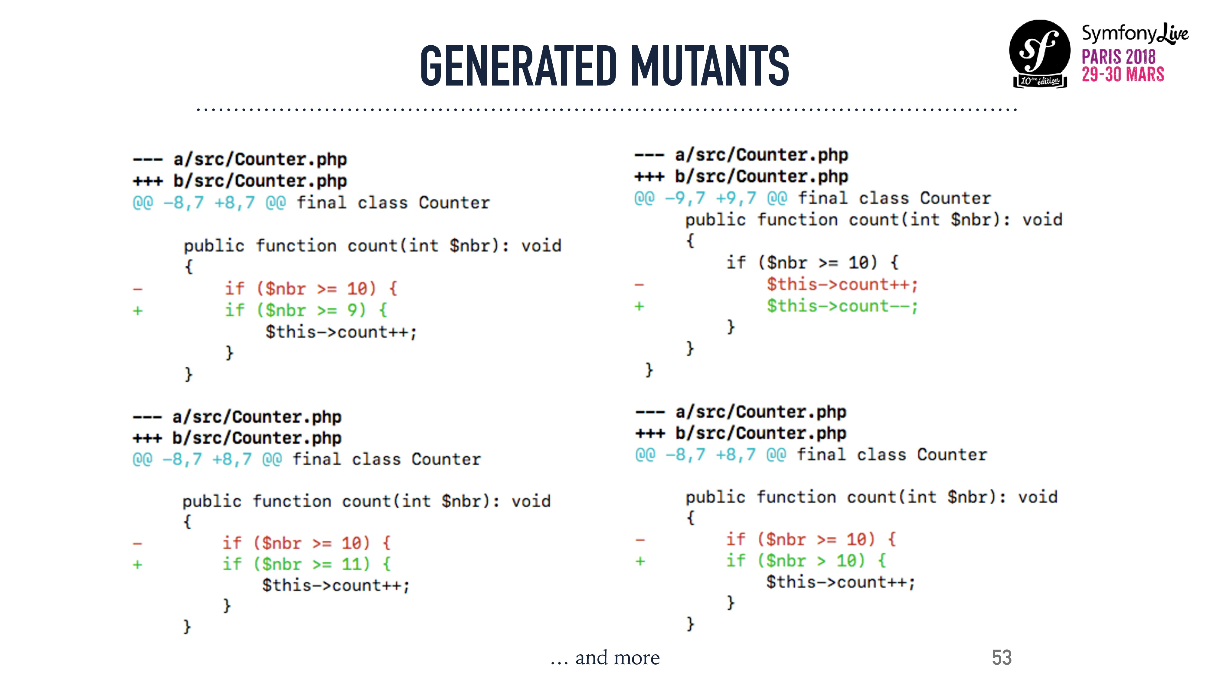 GENERATED MUTANTS 53 … and more