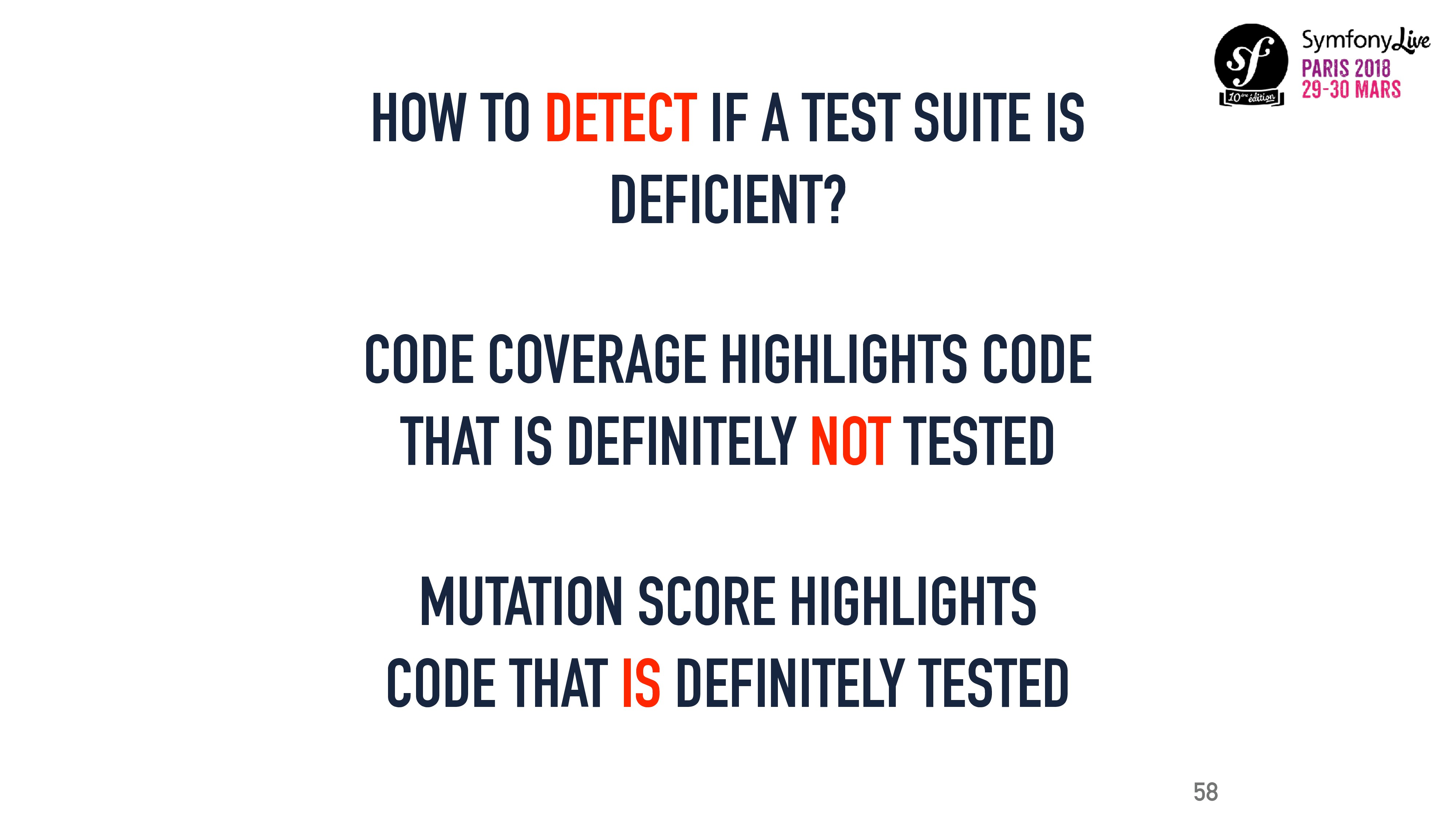 CODE COVERAGE HIGHLIGHTS CODE THAT IS DEFINITEL...