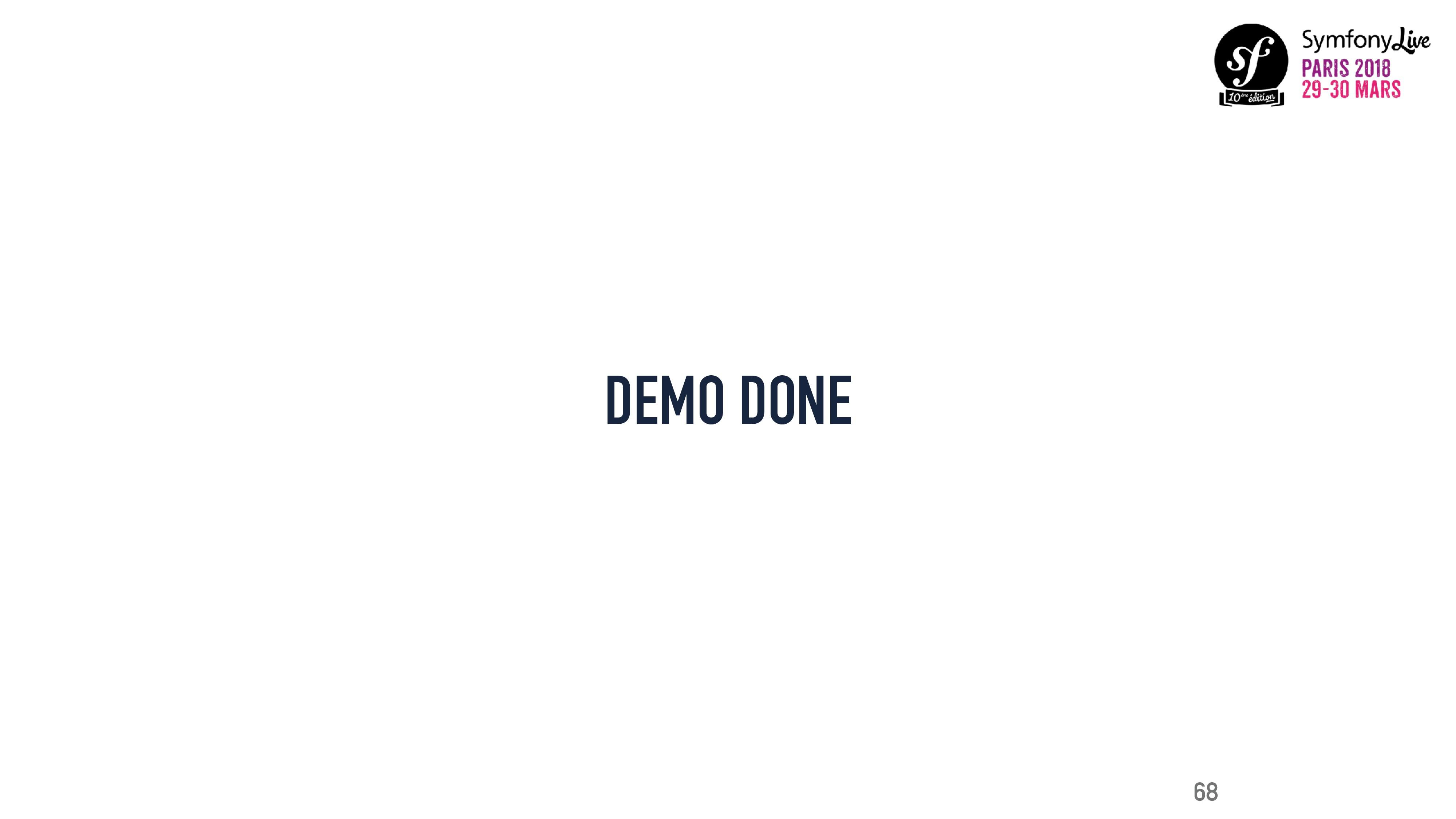 DEMO DONE 68