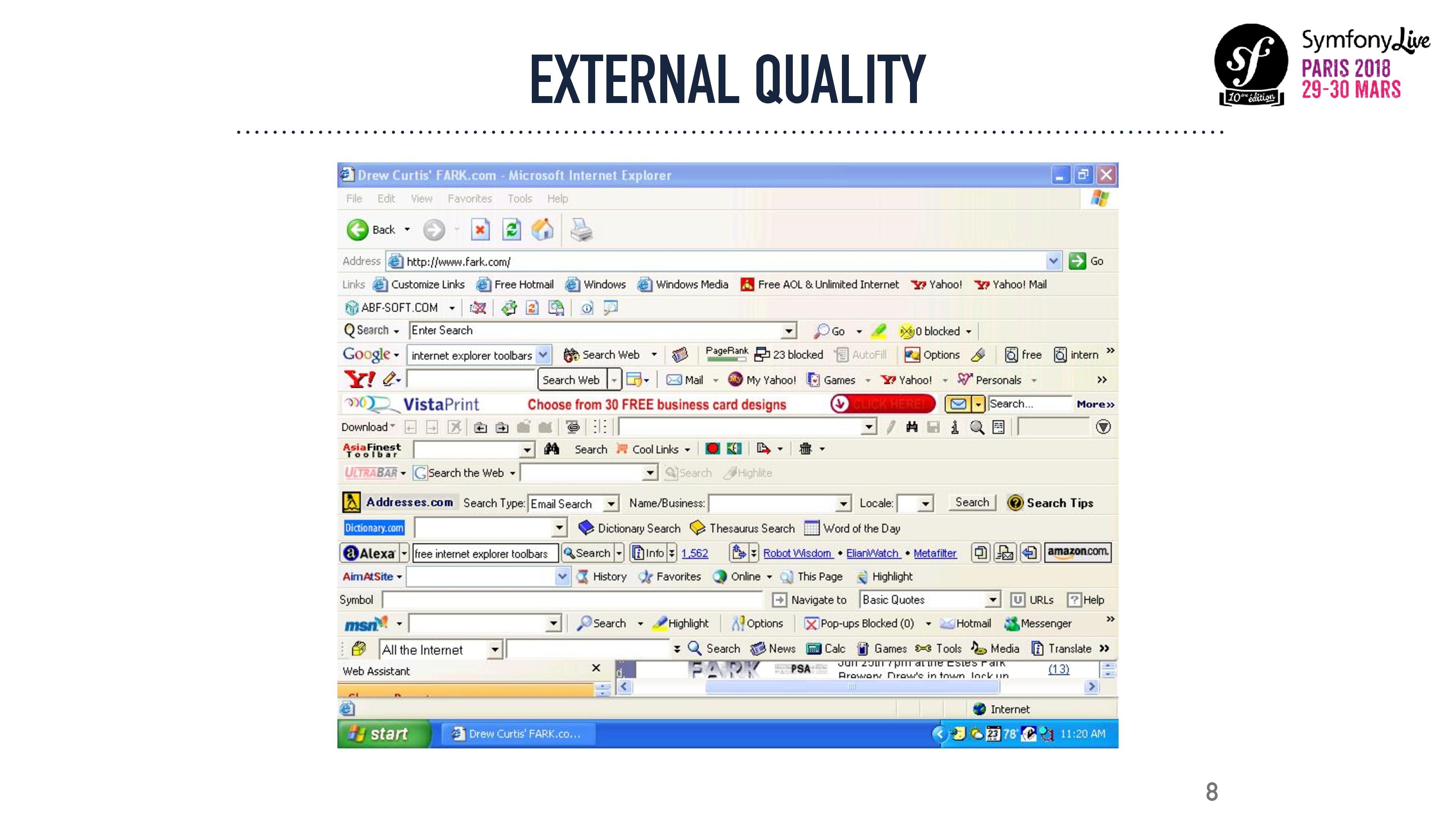 8 EXTERNAL QUALITY