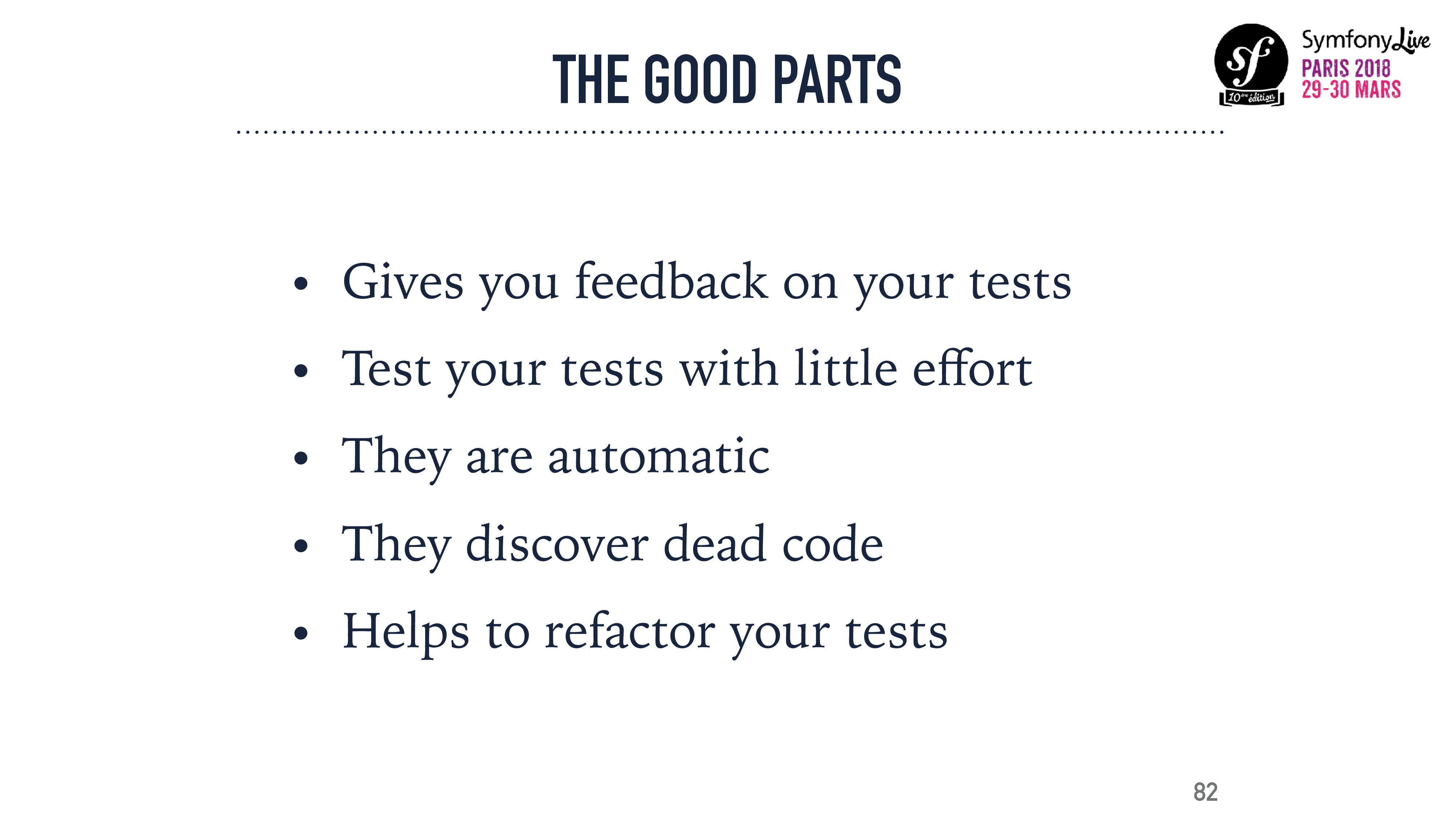 THE GOOD PARTS • Gives you feedback on your tes...
