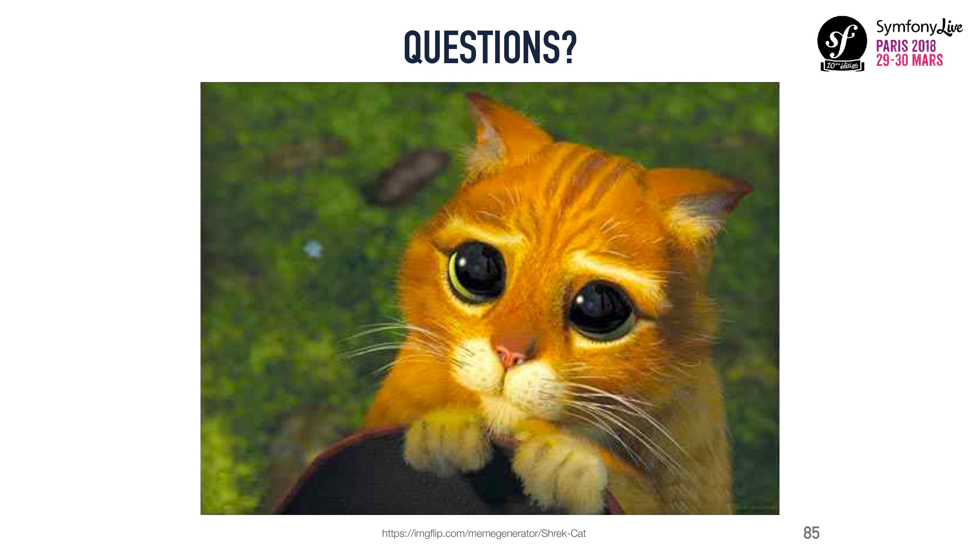 QUESTIONS? 85 https://imgflip.com/memegenerator/...