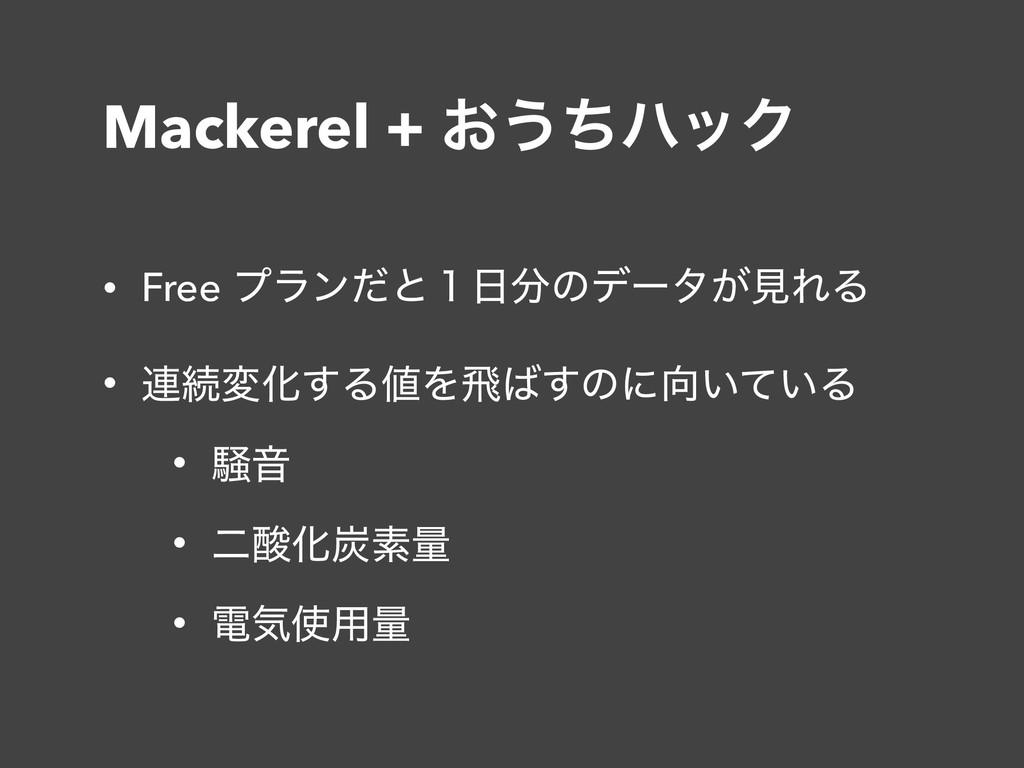 Mackerel + ͓͏ͪϋοΫ • Free ϓϥϯͩͱ̍ͷσʔλ͕ݟΕΔ • ࿈ଓม...