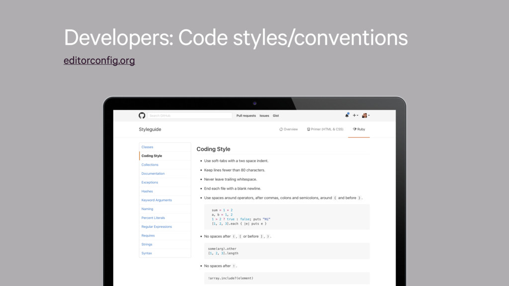 Developers: Code styles/conventions editorconfi...
