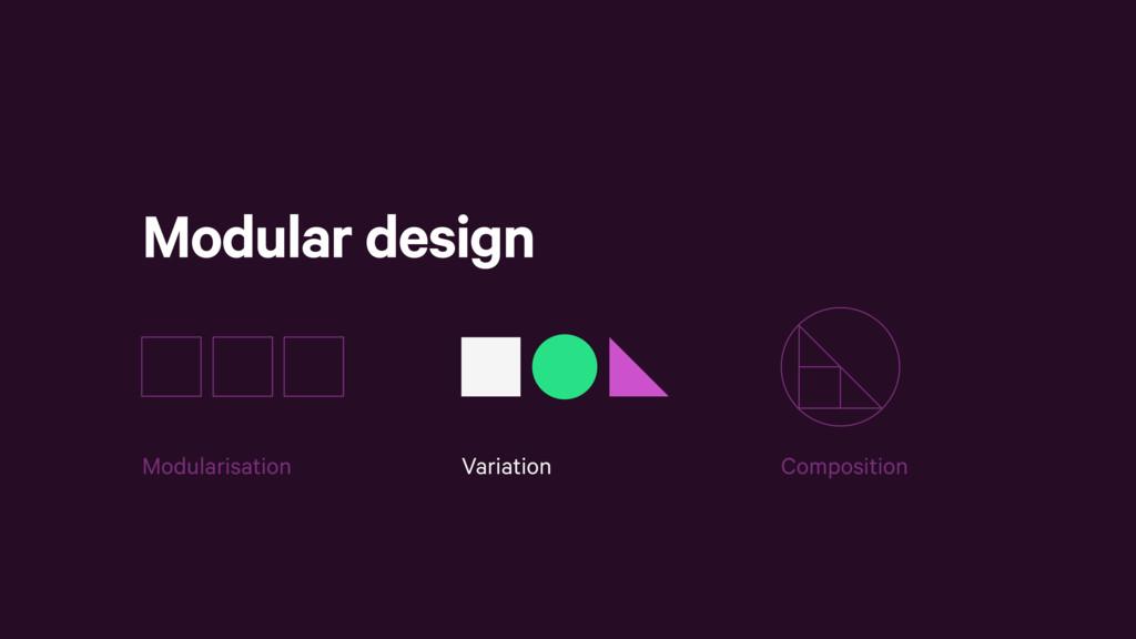 Modular design Variation Composition Modularisa...