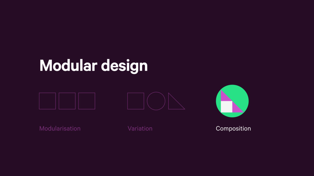 Modular design Composition Variation Modularisa...