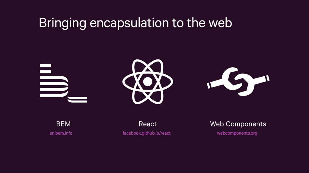 Bringing encapsulation to the web React faceboo...