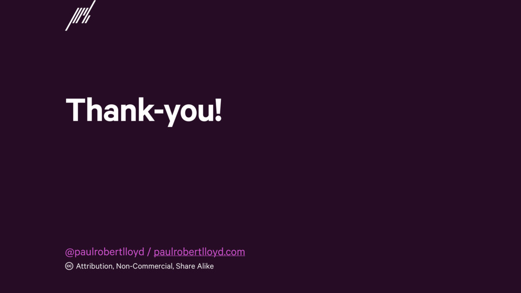 Thank-you! Attribution, Non-Commercial, Share A...