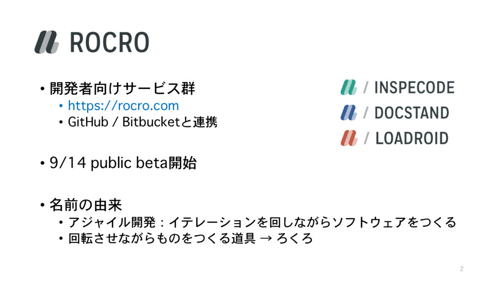• 開発者向けサービス群 • https://rocro.com • GitHub / Bit...