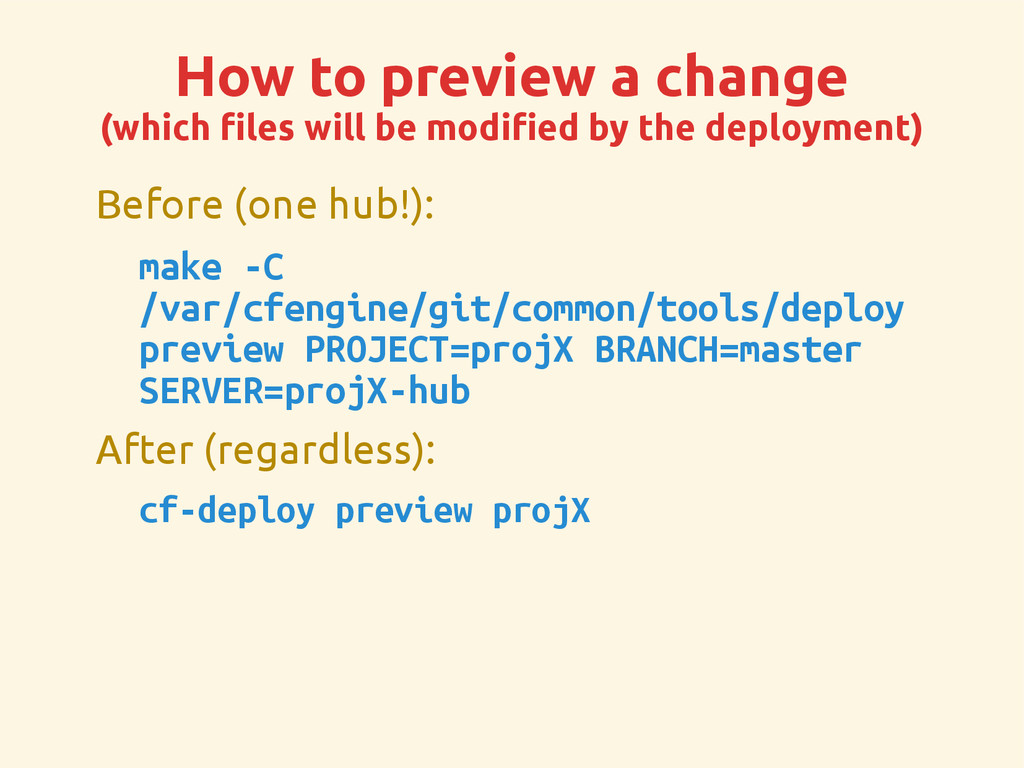 How to preview a change (which files will be mo...
