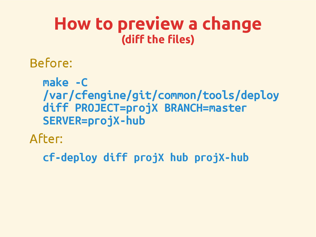 How to preview a change (diff the files) Before...