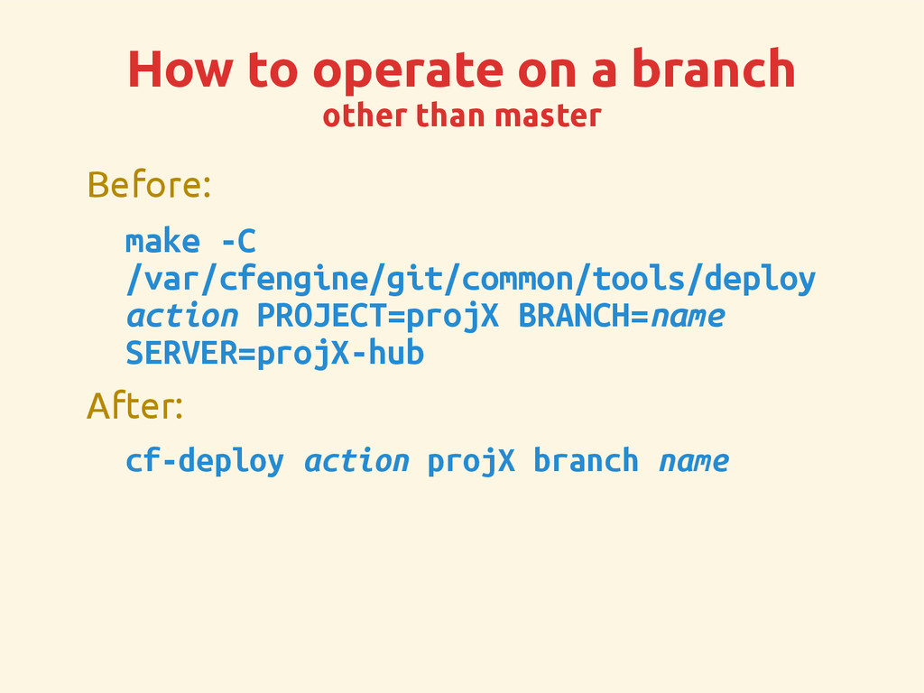 How to operate on a branch other than master Be...