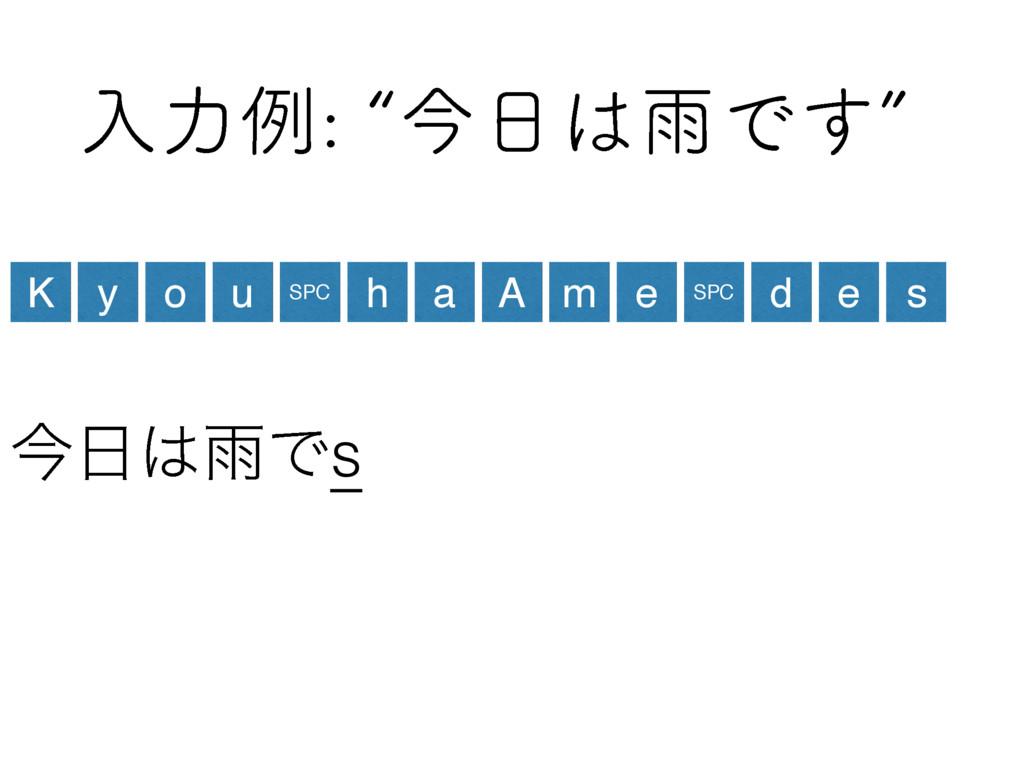 ೖྗྫlࠓӍͰ͢z ࠓӍͰs K y o u SPC h a A m e SPC ...