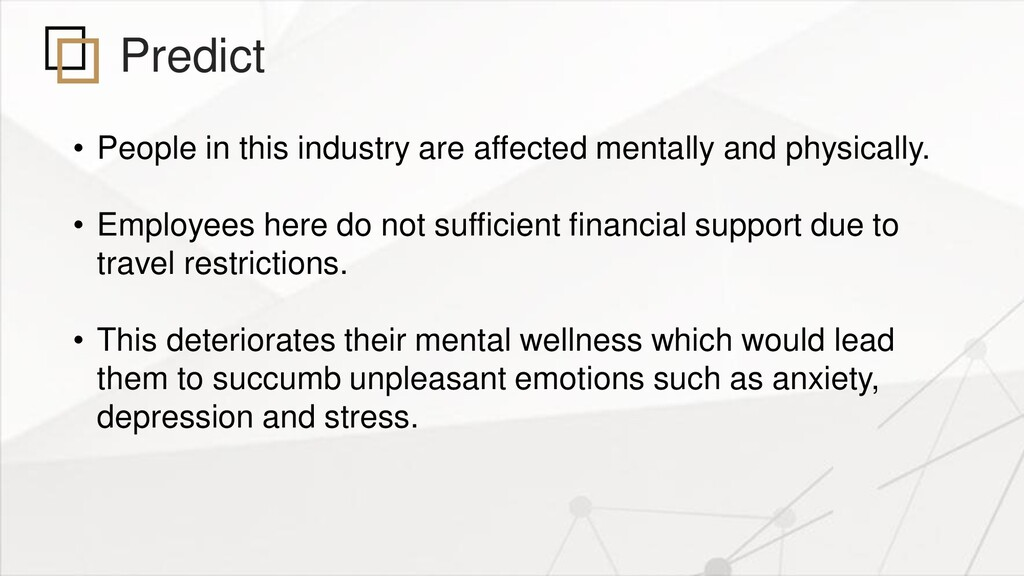 Predict • People in this industry are affected ...