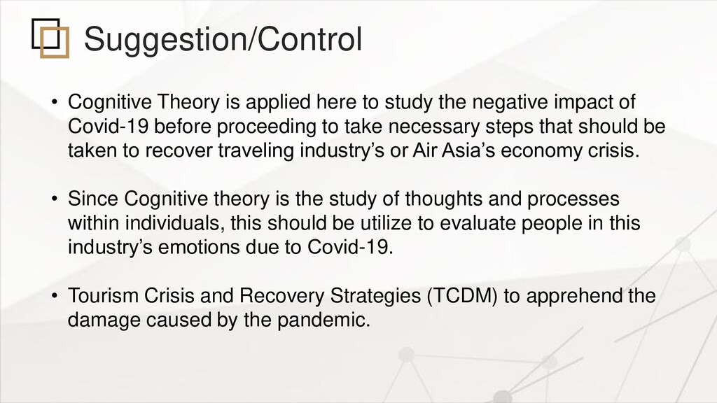 Suggestion/Control • Cognitive Theory is applie...