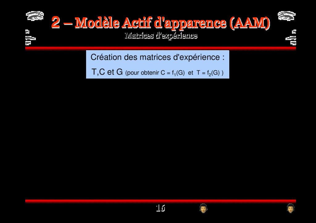 2 2 ! ! Création des matrices d'expérience : T,...