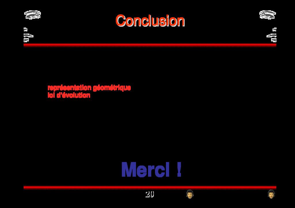 Conclusion Conclusion > Contrainte d'une optimi...