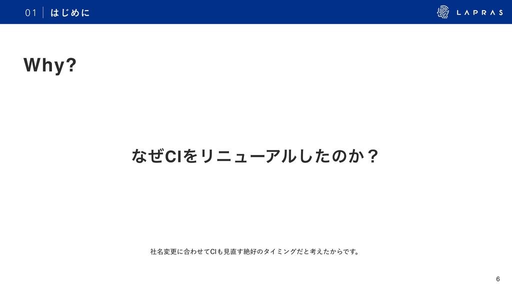 6 ͳͥCIΛϦχϡʔΞϧͨ͠ͷ͔ʁ 0 1 ͡Ίʹ Why? ໊ࣾมߋʹ߹Θͤͯ$*ݟ...