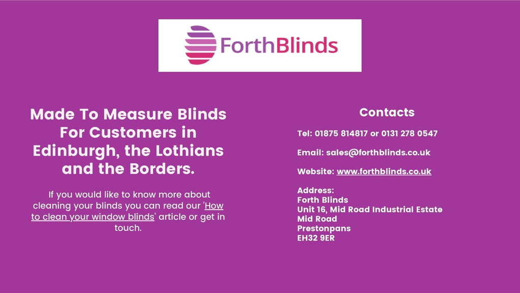 Made To Measure Blinds For Customers in Edinbur...