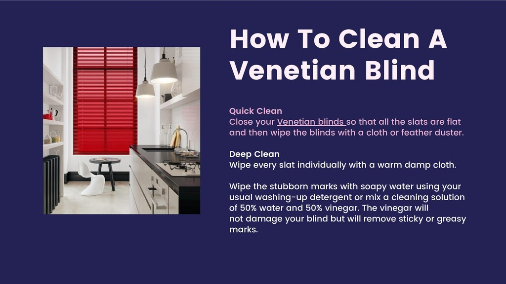 How To Clean A Venetian Blind Quick Clean Close...