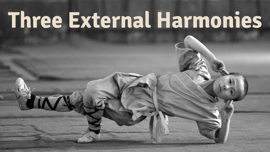 Three External Harmonies