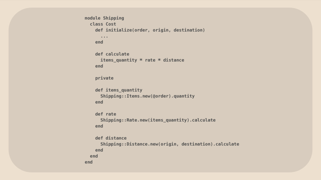 module Shipping class Cost def initialize(order...