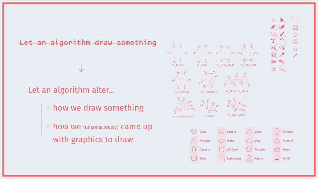 Let an algorithm draw something how we draw som...