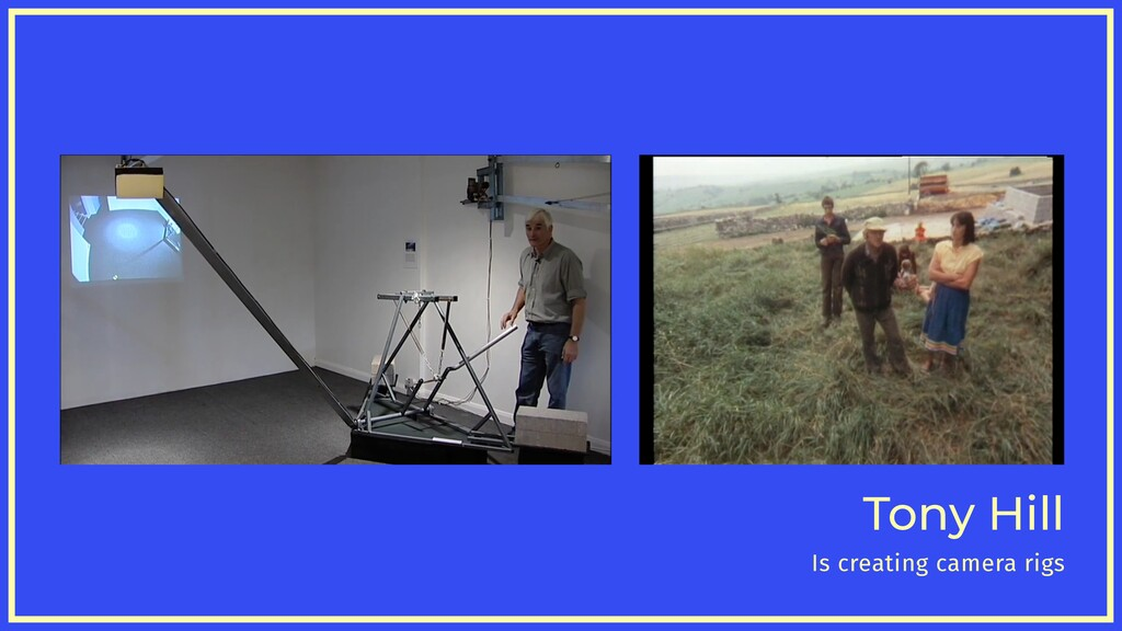 Tony Hill Is creating camera rigs