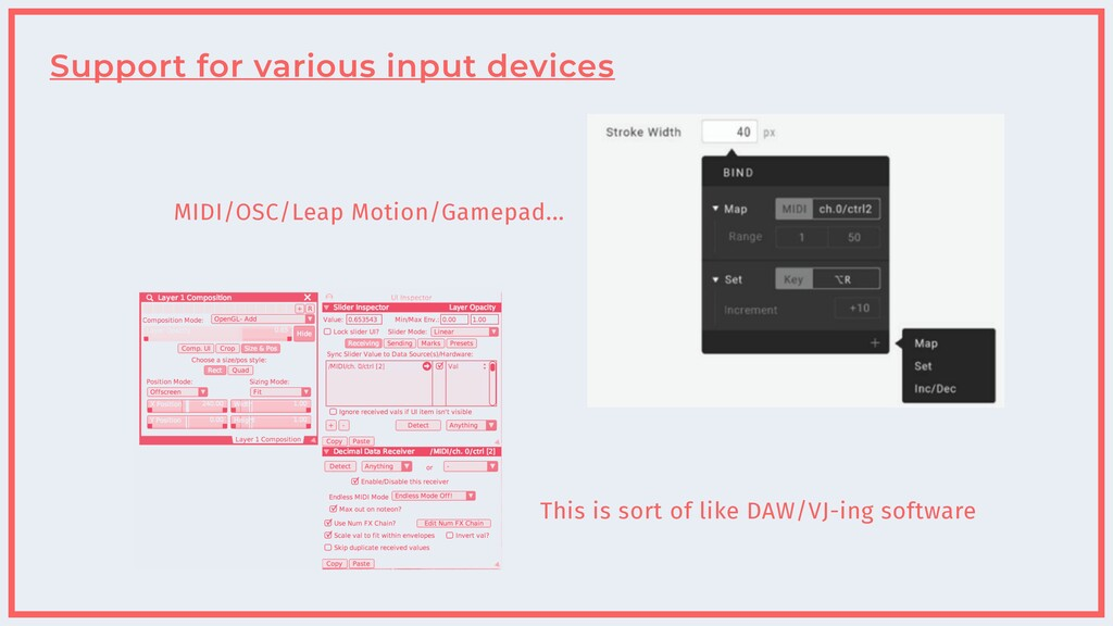 Support for various input devices This is sort ...