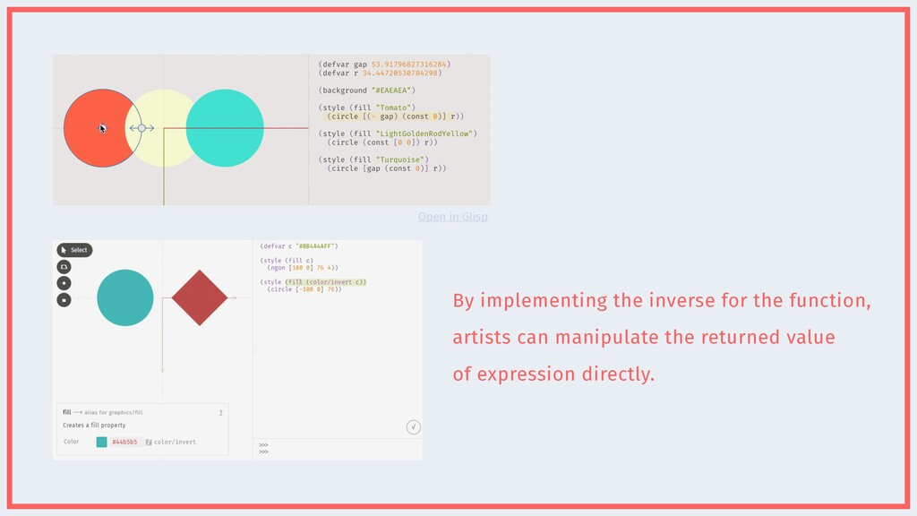 By implementing the inverse for the function,  ...