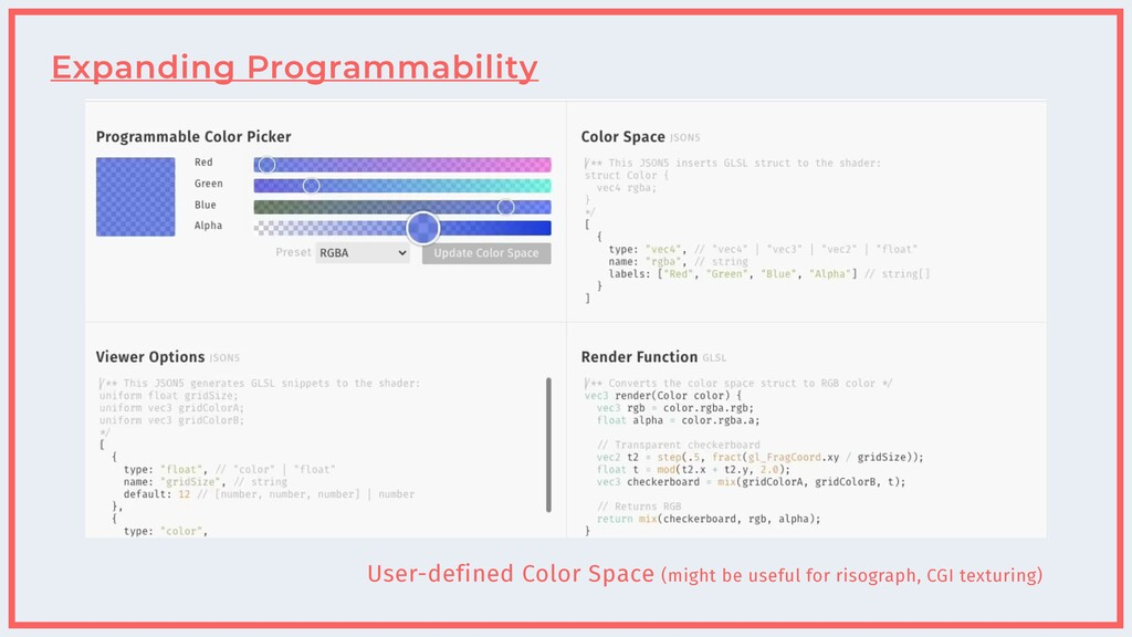 Expanding Programmability User-defined Color Sp...
