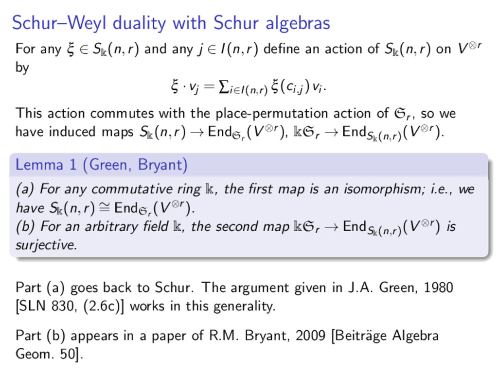 Schur–Weyl duality with Schur algebras For any ...
