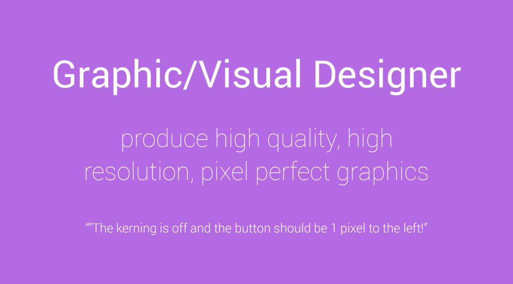 Graphic/Visual Designer produce high quality, h...