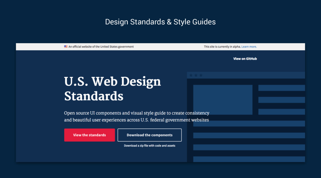 Design Standards & Style Guides