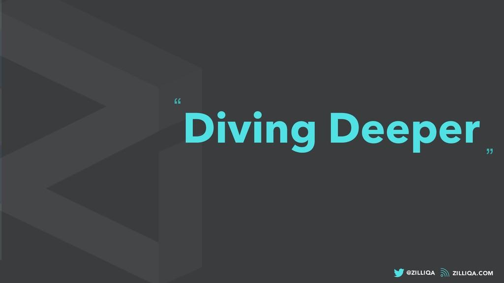 """ZILLIQA.COM @ZILLIQA """" """" Diving Deeper"""